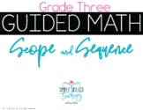 3rd Grade Guided Math Scope and Sequence