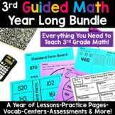 3rd Grade Guided Math -Year Long Bundle