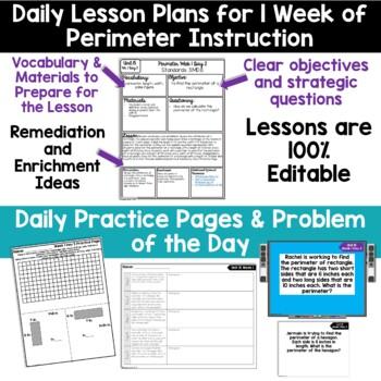 3rd Grade Guided Math -Unit 15 Perimeter