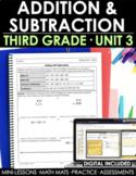 3rd Grade Addition & Subtraction Math Curriculum Unit 3 -