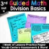 3rd Grade Guided Math -Unit 4 Division Basics