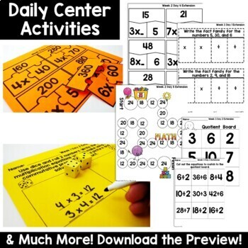 3rd Grade Guided Math -Unit 5 Multiplication and Division Applications