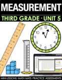 3rd Grade Time, Perimeter, Area, Weight & Volume Math Curr