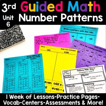 3rd Grade Guided Math -Unit 6 Patterns