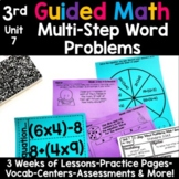 3rd Grade Guided Math -Unit 7 Two-Step Word Problems