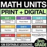 3rd Grade Math Curriculum - 3rd Grade Guided Math Units -