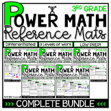 3rd Grade Guided Math BUNDLE Differentiated Spiral Review