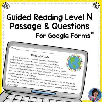 3rd Grade Guided Reading Level N Passage: Google Forms™ {Reading Comprehension}