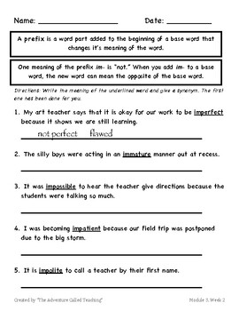 3rd Grade HMH Into Reading Module 3, Week 3 (Over 100 pages!)