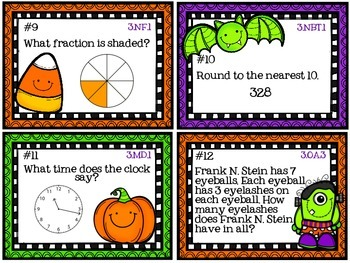 3rd Grade Halloween Math (Common Core Aligned)