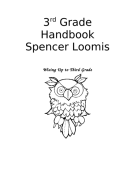 3rd Grade Handbook- Back to School