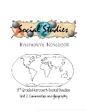 3rd Grade Harcourt Social Studies Interactive Notebook Unit 2