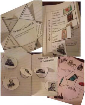 3rd Grade Harcourt Social Studies Interactive Notebook Unit 3