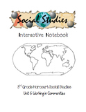 3rd Grade Harcourt Social Studies Interactive Notebook Unit 6