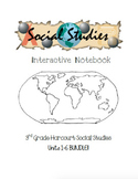 3rd Grade Harcourt Social Studies Interactive Notebooks Unit 1-6 BUNDLE!