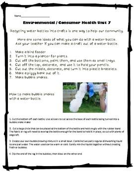 3rd Grade Health - Unit 7: Enviromental Consumer Health