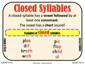Syllable Mastery for 3rd Grade