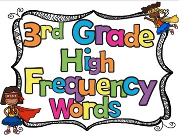 3rd Grade High Frequency Sight Words Flash Cards and Student Data Tracker