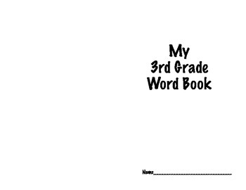 3rd Grade High Frequency Word Book-Imagine It!