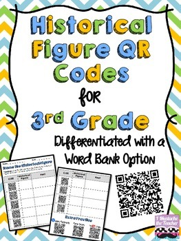 3rd Grade Historical Figure QR Code Activity {Aligned with SS3H2a & SS3CG2}