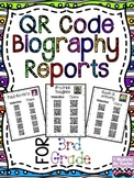 3rd Grade Historical Figure QR Code Biographies {Aligned w