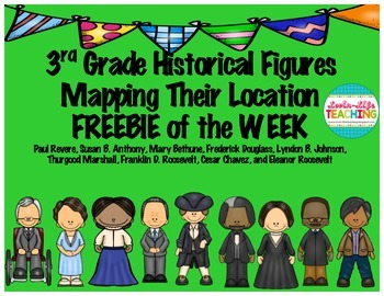 3rd Grade Historical Figures- Mapping Their Location FREEBIE