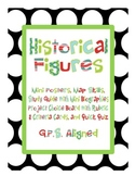 3rd Grade Historical Figures Posters, Projects, Map Skills, & MORE! {GPS}