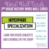 3rd Grade History Word Wall Cards