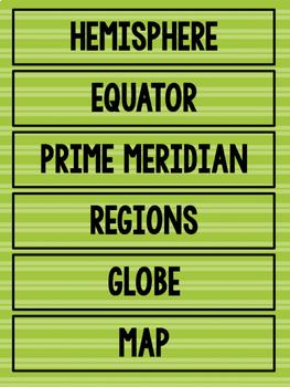 3rd Grade History Word Wall Cards