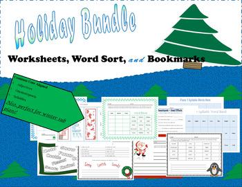 3rd Grade Holiday Activity Bundle- Games, Worksheets, & More!