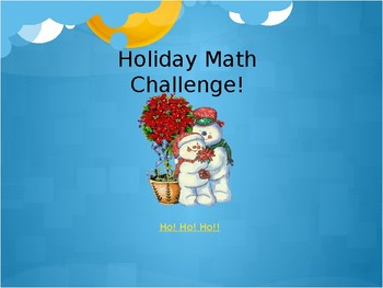 3rd Grade Holiday Math Challenge - Interactive Quiz