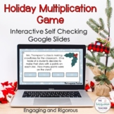 3rd Grade Holiday Multiplication Digital Task Card Game |