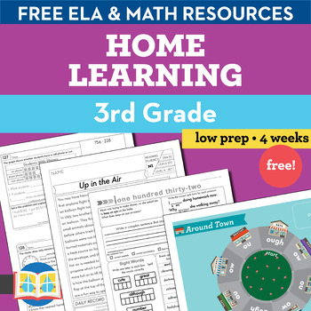3rd Grade Free Printable Packet (Distance Learning)