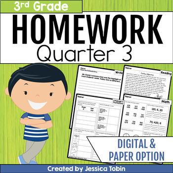 Third Grade Homework Folders Teaching Resources | Teachers Pay Teachers