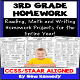 3rd Grade Homework: Math, Reading and Writing Homework for the Entire Year!