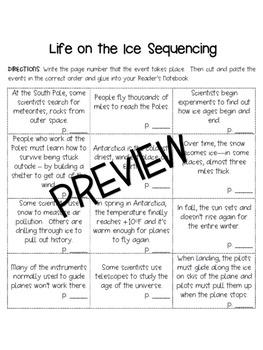 3rd Grade Houghton Mifflin Journeys Life on the Ice Vocabu