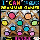 3rd Grade I CAN Grammar Games | Literacy Centers | BUNDLE