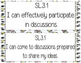3rd Grade I Can Common Core Posters Speaking and Listening