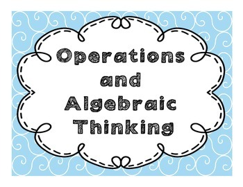 """3rd Grade """"I Can"""" Math CCSS Statement Posters**EDITABLE**"""