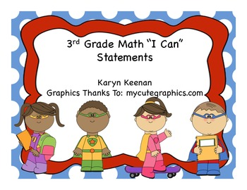 "3rd Grade ""I Can"" Math Statements"