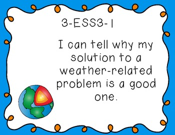 "3rd Grade ""I Can"" Printables for Next Generation Science Standards (NGSS)"