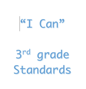 3rd Grade I Can Statements