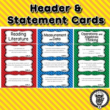 3rd Grade I Can Statements Common Core CCSS ELA, Math & Science