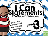 3rd Grade I Can Statements Common Core Math