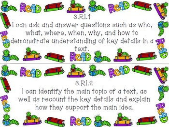 3rd Grade I Can Statements Common Core Math & ELA BUNDLE-Back to School Theme