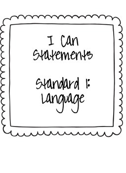 "3rd Grade ""I Can"" Statements: ELA"