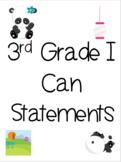 3rd Grade I Can Statements (Georgia)-Panda Themed