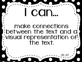 "4th Grade ""I Can"" Statements: Reading - Black & White"
