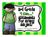 "3rd Grade ""I Can"" Statements for All Subjects - CCSS & Rev"