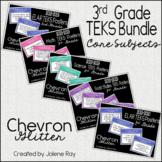 "3rd Grade ""I Can"" TEKS Statement Poster Bundle: CHEVRON GLITTER"